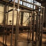 Staalbouw | Luchtsluis voor een café .