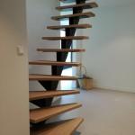 Staalbouw | Stalen trapboom incl. houtwerk